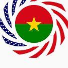 Burkina Faso American Multinational Patriot Flag 1.0 by Carbon-Fibre Media