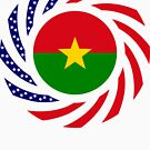 Burkina Faso American Multinational Patriot Flag 1.0 by Carbon-Fibre Media