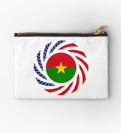 Burkina Faso American Multinational Patriot Flag 1.0 Zipper Pouch