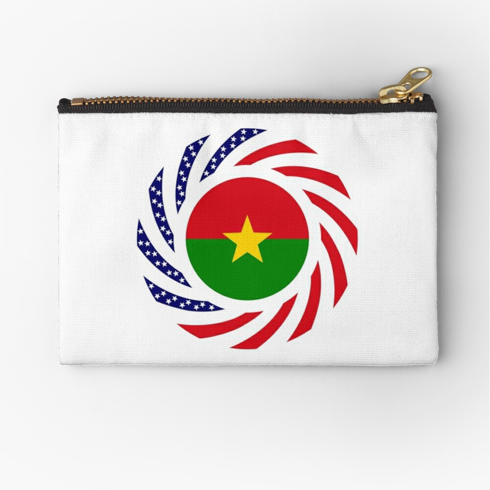 Burkina Faso American Multinational Patriot Flag 1.0 Zipper Pouch