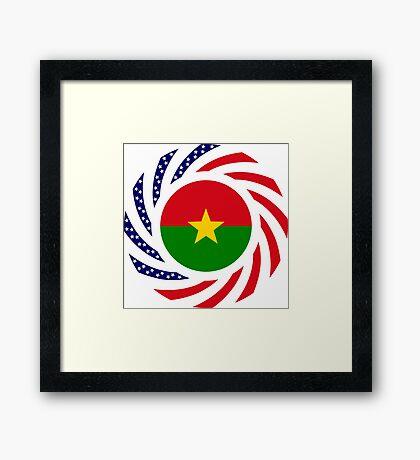 Burkina Faso American Multinational Patriot Flag 1.0 Framed Print