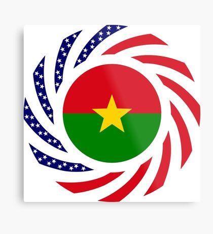 Burkina Faso American Multinational Patriot Flag 1.0 Metal Print