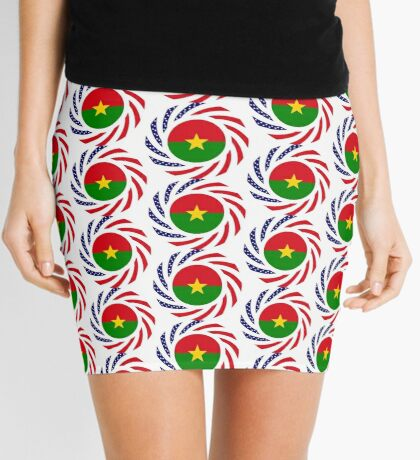 Burkina Faso American Multinational Patriot Flag 1.0 Mini Skirt