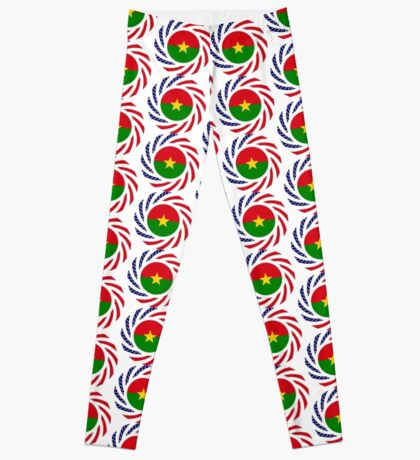 Burkina Faso American Multinational Patriot Flag 1.0 Leggings