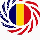 Chad American Multinational Patriot Flag Series by Carbon-Fibre Media
