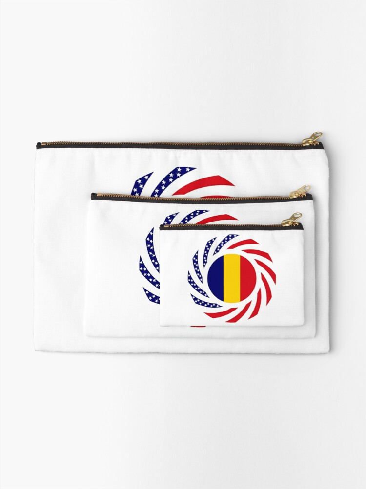 Alternate view of Chad American Multinational Patriot Flag Series Zipper Pouch