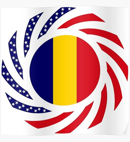 Chad American Multinational Patriot Flag Series Poster