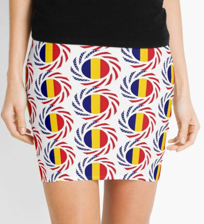 Chad American Multinational Patriot Flag Series Mini Skirt
