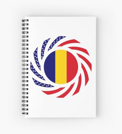 Chad American Multinational Patriot Flag Series Spiral Notebook