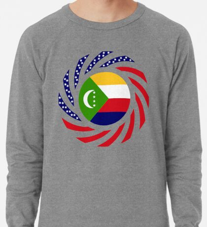 Comoros American Multinational Patriot Flag Series Lightweight Sweatshirt