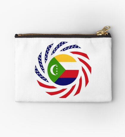 Comoros American Multinational Patriot Flag Series Zipper Pouch