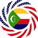Comoros American Multinational Patriot Flag Series by Carbon-Fibre Media