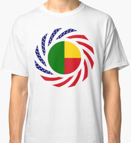 Benin American Multinational Patriot Flag Series Classic T-Shirt