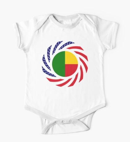 Benin American Multinational Patriot Flag Series Kids Clothes