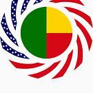 Benin American Multinational Patriot Flag Series by Carbon-Fibre Media