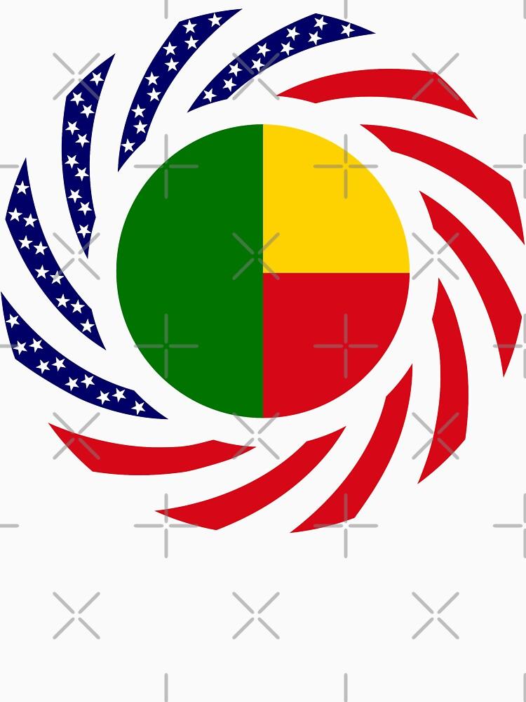 Benin American Multinational Patriot Flag Series by carbonfibreme