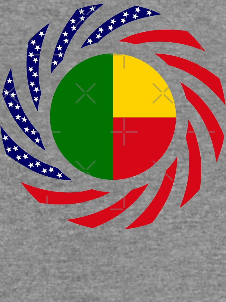 Benin American Multinational Patriot Flag Series by carbonfibreme