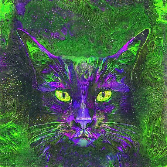 Deep dream cat abstraction