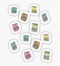 Technicolor Typewriters Sticker