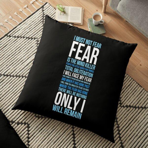Litany Against Fear (long) Floor Pillow