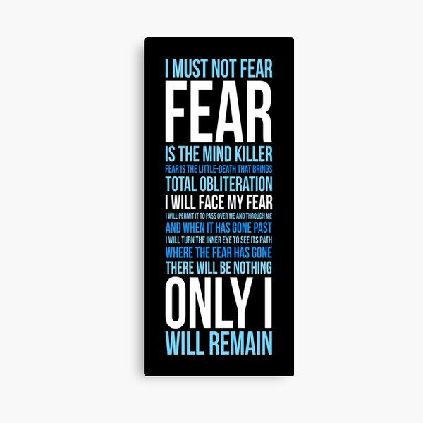 Litany Against Fear (long) Canvas Print
