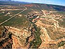 aerial, Red Rock Plateau area, Utah by Margaret  Hyde