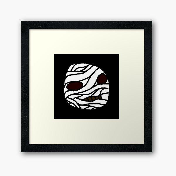 Mummy - Halloween Face Framed Art Print
