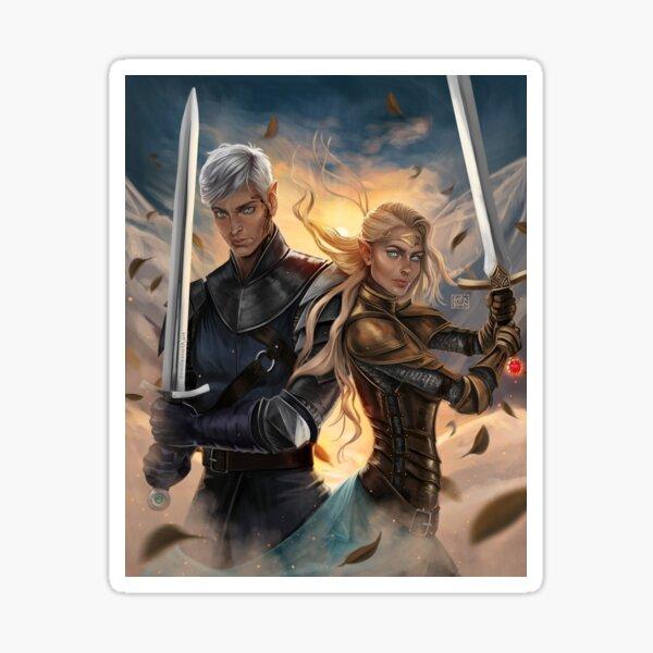 Aelin and Rowan Fan Art Sticker