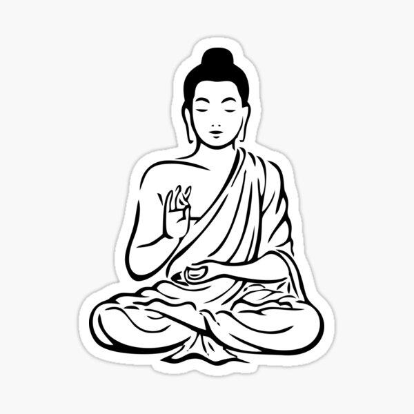 Buddha Vector Art Sticker