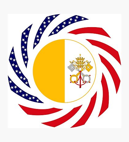 Catholic Murican Patriot Flag Series Photographic Print