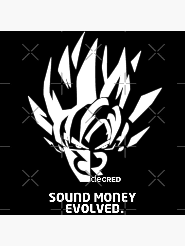 (sticker) Decred sound money evolved ™ v2 'Design timestamped by https://timestamp.decred.org/' by OfficialCryptos