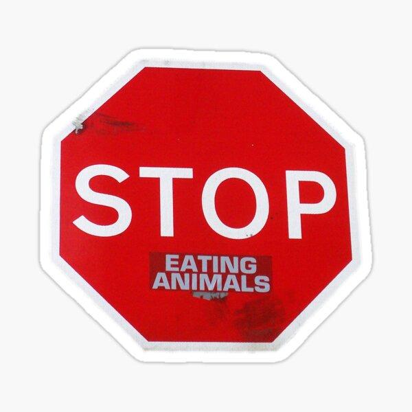 Stop Eating Animals T-Shirt vegetarian vegan Sticker