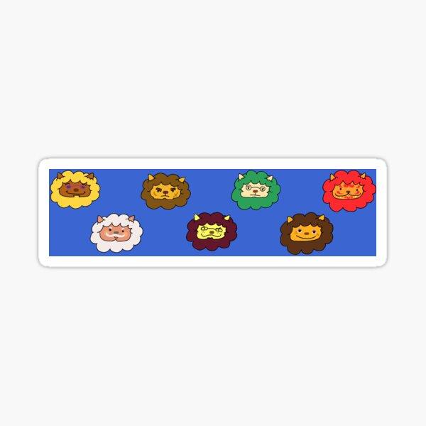 Animal Crossing Lions Sticker