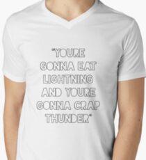 Iss blitzschnellen Donner T-Shirt mit V-Ausschnitt