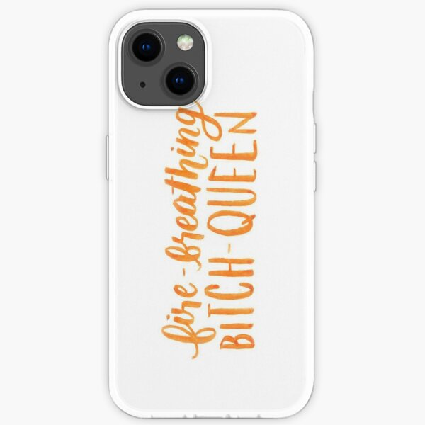 Fire-Breathing Bitch-Queen iPhone Soft Case