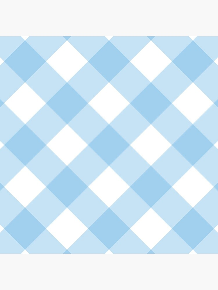 Modern Blue  Gingham Pattern by QuirkyClock