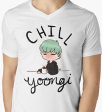 Chill Min Yoongi Men's V-Neck T-Shirt