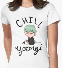 Chill Min Yoongi Women's Fitted T-Shirt