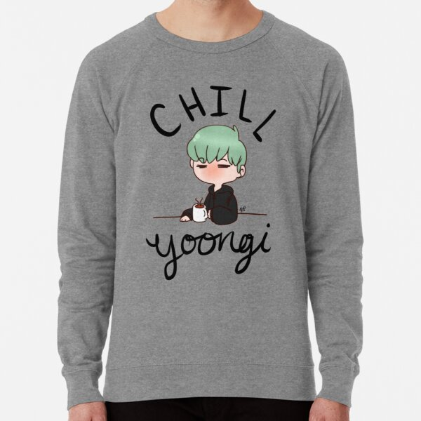 Chill Min Yoongi Lightweight Sweatshirt
