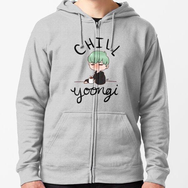 Chill Min Yoongi Veste zippée à capuche