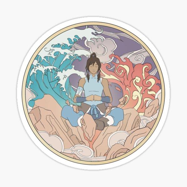 Avatar Korra and Elements Design Sticker