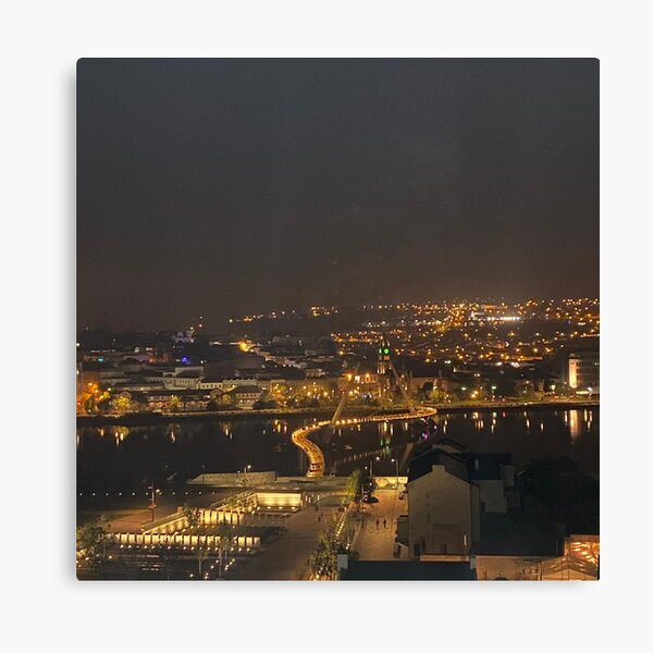 Derry at night Canvas Print