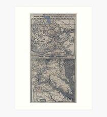 Civil War Maps 1908 War maps and diagrams Art Print