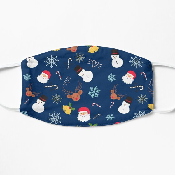 Cute Christmas Pattern | Santa, Jingle Bells, Snowman Mask