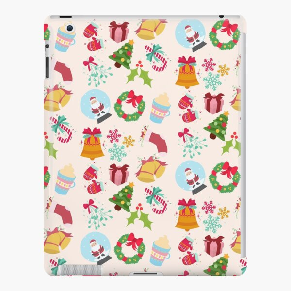 Cute Christmas Pattern | Santa, Jingle Bells, Gift, Candy Cane iPad Snap Case