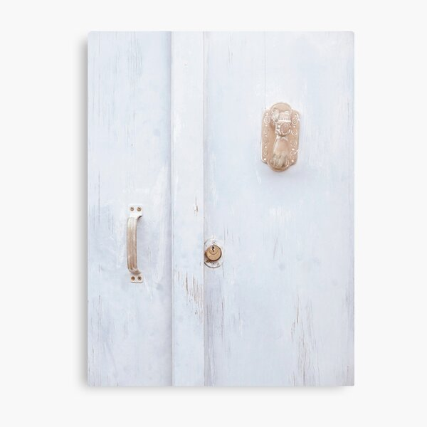 WOODEN DOOR AND HANDLE Metal Print