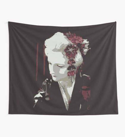submissive Geisha Wall Tapestry