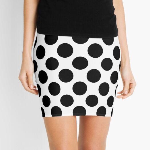 Geometrical Black And White Mini Skirt