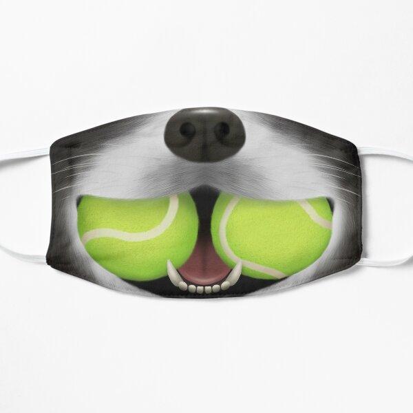 Border Collie Sheepdog with 2 Tennis Balls Flat Mask