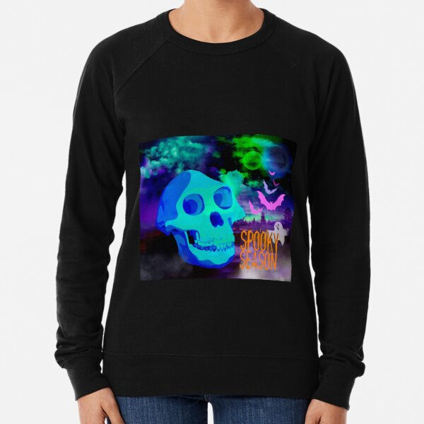 Apron with ghost and bats Spooky season Lightweight Sweatshirt